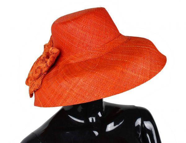 Cappello Arancio Pizzo lato